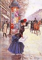Jean B%C3%A9raud Jeune femme traversant le boulevard