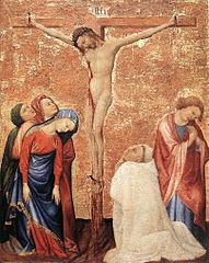 Christ on the Cross with a Carthusian Monk
