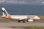Jetstar Asia Airways, 3K722, Airbus A320-232, 9V-JSV, Departed to Singapore via Taipei, Kansai Airport (17197397495).jpg