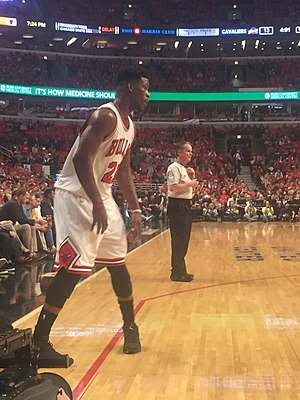 Jimmy Butler (basketball) - Butler in a 2015 playoff game against the Cleveland Cavaliers.