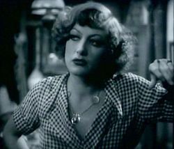 Joan Crawford Sadie Thompsonin roolissa.