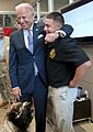 Joe Biden visits with wounded warrior Marine Corps Sgt. Eric Rodriquez, 2012.jpg