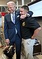 Joe Biden visits with wounded warrior Marine Corps Sgt. Eric Rodriquez, 2012.jpg