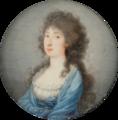 Johann Baptist Anker - Lady in blue dress.png