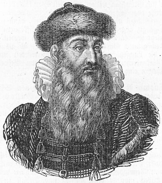 Johannes Gutenberg, drawing made after death