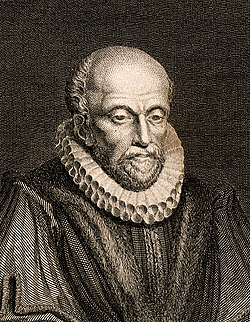 John Stow. Line engraving by A.W. Warren, Wellcome V0006801 (cropped).jpg