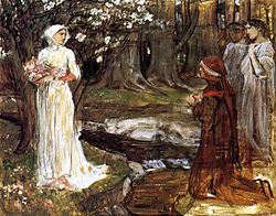 John William Waterhouse: Study for Dante and Matilda