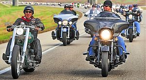 Johnny Dare - Johnny Dare and Dee Snider of Twisted Sister, during the Bikers For Babies motorcycle run