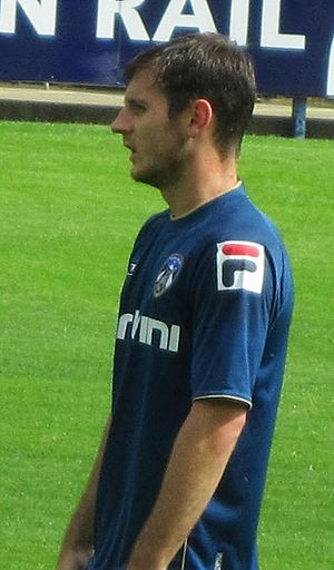 Jonathan Grounds - Grounds playing for Oldham Athletic in 2012
