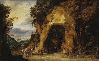 Monks in a Grotto
