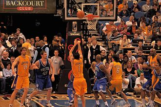 Jordan Farmar - Farmar shooting against the Minnesota Timberwolves in 2010
