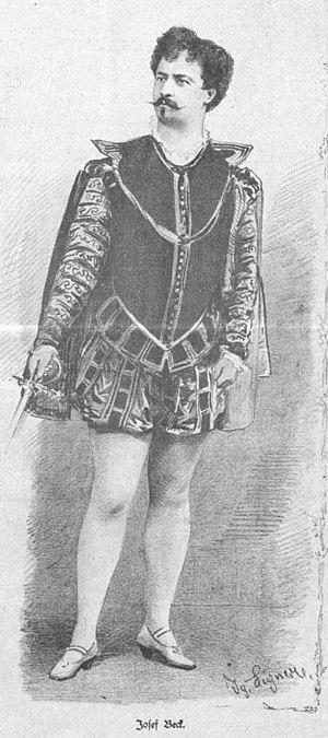 Joseph Beck (baritone) - Josef Beck in 1885