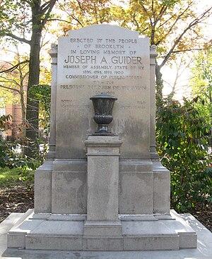 Borough president - Memorial to Joseph Guider, Borough President of Brooklyn