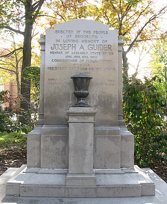 Borough president - Memorial to Joseph Guider, Borough President of Brooklyn