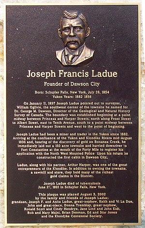 Joseph Ladue - Joseph Ladue plaque