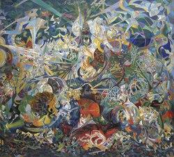 Joseph Stella, 1913–14, Battle of Lights, Coney Island, Mardi Gras, oil on canvas, 195.6 × 215.3 cm, Yale University Art Gallery.tif