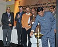 Jual Oram lighting the lamp at the Brain Storming Consultation on Exploring of feasibility for convergence of resources under Tribal Sub Plan (TSP), in New Delhi. The Minister of State for Tribal Affairs.jpg