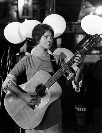 Judy Collins - Collins during a 1963 appearance on Hootenanny