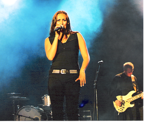 Music of Greenland - Julie Berthelsen, Greenlandic-Danish singer, performing in Copenhagen, 2007