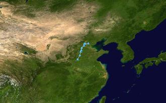 July 2016 North China cyclone - Image: July 2016 North China cyclone track
