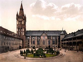 Schlosskirche (Königsberg) - Image: Königsberg Castle courtyard