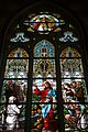 Kőszeg. Stained-glass window in Sacred Heart Church.jpg