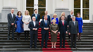 Second Rutte cabinet - The Second Rutte cabinet on 5 November 2012