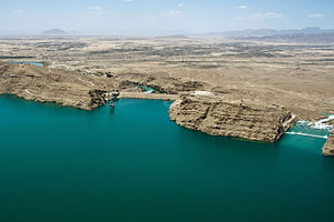 Kajaki - The Kajaki Dam, located northeast of Kajaki village