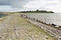 Kalø Slotsruin (Syddjurs Kommune).Vejdæmning.Blik mod øen.125359.ajb.jpg