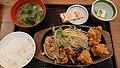 Karaage & pork ginger Teishoku 20200321-01.jpg