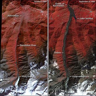 Kolka–Karmadon rock ice slide - Image: Karmadon