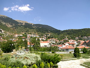 View of Karpenisi, in Evritania prefecture, Greece