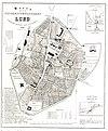 100px karta %c3%b6fver universitetsstaden lund 1866