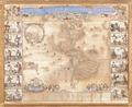 Karta över Amerika från 1600-talet, kopparbestick på papper - Skoklosters slott - 93669.tif