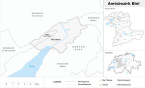 Karte von Amtsbezirk Biel