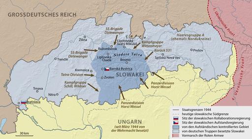 Rozwoj Slowackiego powstania Narodowego na poczatku pazdziernika 1944
