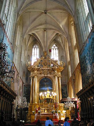 Wawel Cathedral - The main gilded altar established in about 1650