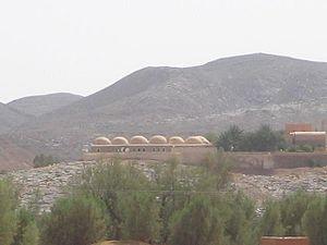 Kerzaz - View of Ougarta chains from Kerzaz