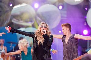 "Tik Tok - Kesha rehearsing ""Tik Tok"" for the Much Music Video Awards on June 18, 2010."