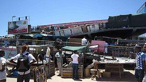 Khayelitsha - The outside of the Khayelitsha Metrorail Station (2012)