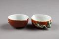 Kinesiskt vattenkärl i porslin i form av persika gjord under Qianlong (1735-1795) - Hallwylska museet - 95735.tif