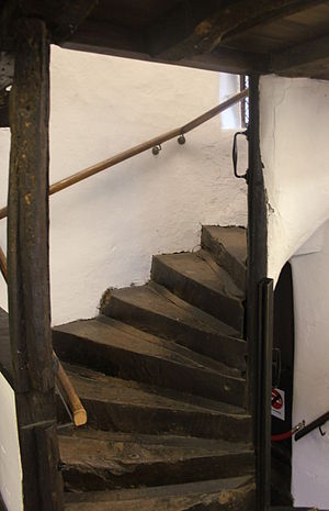 King John's Hunting Lodge, Axbridge - Internal stairs