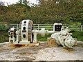 Kitashinano Country Forest and Cultural Park Kusugawa Power Station water turbine and generator 2.jpg