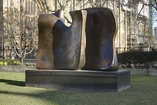 <i>Knife Edge Two Piece 1962–65</i> sculpture series by Henry Moore