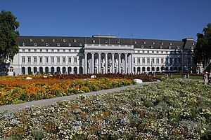 Electoral Palace, Koblenz - Main (west) façade of the palace