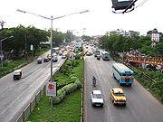 A busy road in Kolkata