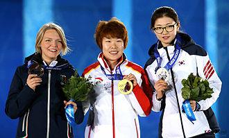 Short track speed skating at the 2014 Winter Olympics – Women's 1500 metres - Podium