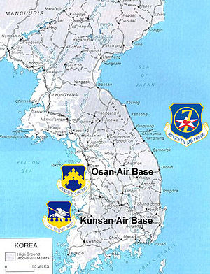 United States Air Force In South Korea Wikipedia - Us Air Force Bases In Japan Map