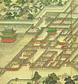 Korean art-Donggwoldo detail-Changdeokgung-Seonjeongjeon and its vicinity-01.jpg