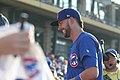 Kris Bryant signing autographs during his rehab assignment against Omaha (44315206021).jpg